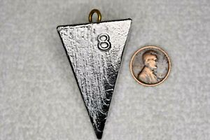 8 oz Pyramid Surf Fishing Lead Weights - 10 Sinkers - Free Shipping