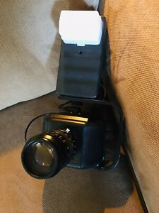 Vintage Datacard Fc 100 Camera W Flash Cover Rainbow Lens As Is Not Tested