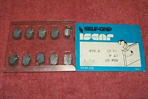Iscar Carbide Inserts Gtn 6 Pack Of 10 Grade Ic54