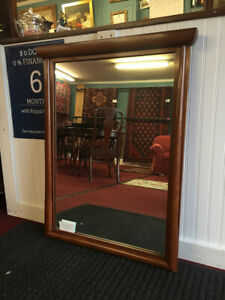 Willett Solid Cherry Mid Century Modern Mirror Very Cool Delivery Available