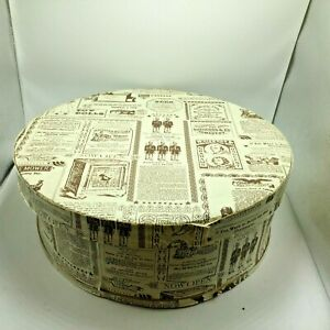 Vintage 15 Wood Cheese Box Storage Container Hat Box Very Unique Dufeck S