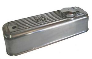 Mgb Polished Alloy Valve Cover New W Chrome Oil Cap Gasket