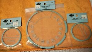 Vintage 1957 Chevrolet Speedometer Fuel Temperature Gauge Lens Face Set