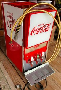 Narco Coca Cola Soda Pop Fountain Drink Dispenser Illuminated Panel 3 Tap 1960 s
