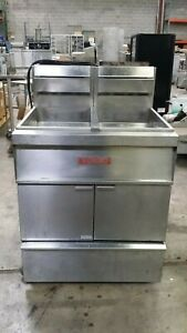 Vulcan Double Tank Natural Gas Fryer W Kleen Screen Filtration System