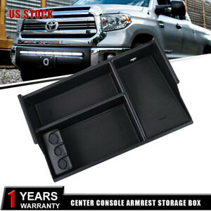 For Toyota Tundra Sequoia 07 19 Armrest Storage Box Pallet Center Console Tray