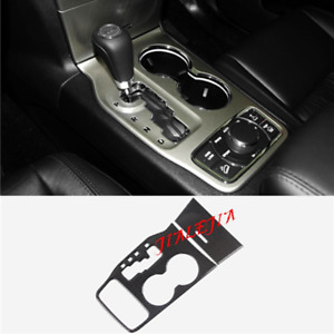 Carbon Fiber Water Cup Holder Cover Trim Fit Jeep Grand Cherokee 2011 2013