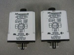 Lot Of 2 Magnecraft Electric Programmable Time Delay Relay W211progx 1