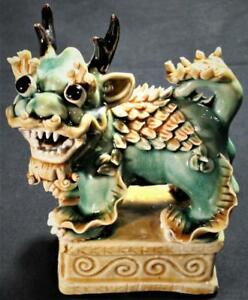 Chinese Clay Dragon Figurine Nice Piece