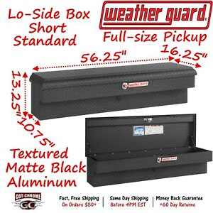 174 52 01 Weather Guard Matte Aluminum Lo Side Mount Box 56 Truck Toolbox