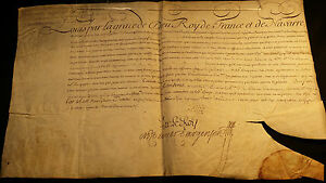King Louis Xv Autograph On Parchment Documents 1747