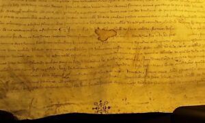 Medieval Parchment In Latin Period Of Reign Clement Vi 1343 Pergament