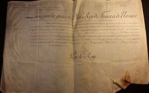 King Louis Xvi Autograph On Large Parchment Regiment Of Orleans Cavalerie 1788