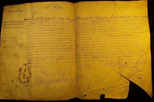 Louis Xiv Autograph On A Very Large Parchment 1704 K Nig Ludwig Xvi Pergament
