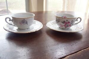 Two Vintage Ijb Germany Us Zone Porcelain Cup And Saucer