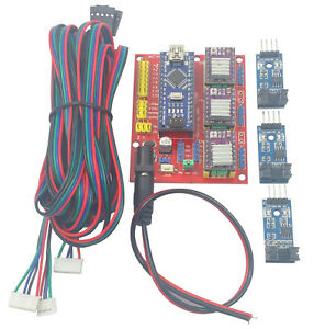Arduino Nano Cnc Shield Drv8825 Kit W 3x Optical Sensor 3x 2m Stepper Cables