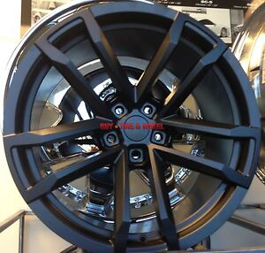 20 Staggered Wheels Chevy Camaro Zl1 New Style Black Rims Rs Ss 20x10 20x11 22