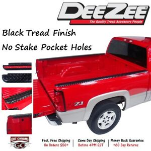 Dz31980b Dee Zee Black Aluminum Bed Rail Caps Dodge Ram 6 4 Bed 2002 2008