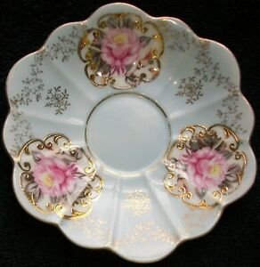 2546 Lefton Hand Painted China Saucer Only 801 Gold Trim