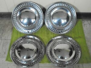 1956 Plymouth Hub Caps 15 Set Of 4 Wheel Covers 56 Hubcaps