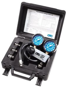 Cylinder Leakage Tester Kit Compression Leak Down Test Engine Rings Heads Gasket
