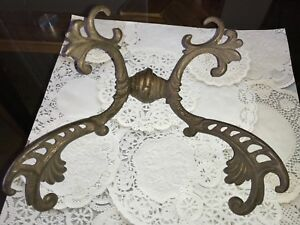 1 Original Finish Victorian Gothic Double Coat Hook Cast Iron Rare