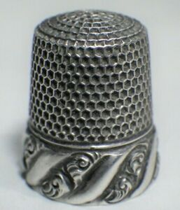 Antique Sterling Silver Thimble By Ketcham Mcdougall Vintage Sewing Size 8