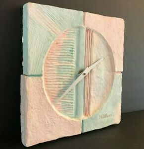 Mid Century Modern Mexican Wall Clock By Waltham