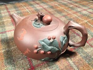 Yixing Miniature Small Tea Kettle Pot Glazed Pottery Stunning 3 5 Tall Brown