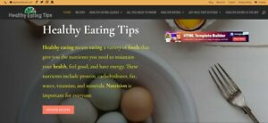 Healthy Eating Tips store Wordpress Website Ecommerce Ready