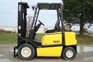 Yale Glp050 Lpg 5000lbs Forklift 200 Max Ht Side Shift Solid Pneumatic Tires