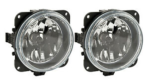 2005 2009 Mustang Roush Stage 1 2 3 Complete Clear Fog Lights H10 Bulbs Pair