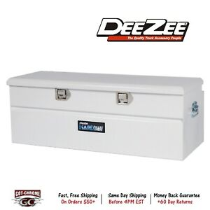 Dz8556fs Dee Zee Red Toolbox Utility Chest White Powder Coat Textured Aluminum