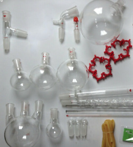 2000 Ml Chemistry Lab Glassware Kit lab Stand Clamps 24 40