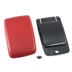 1987 1993 Mustang Red Center Console Arm Rest Pad Cover Trim Panel Base Kit