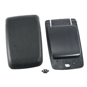 1987 1993 Mustang Black Center Console Arm Rest Pad Cover Trim Panel Base Kit