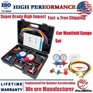 Ac Manifold Gauge Set R134a R410a R134 Air Conditioning A c Refrigeration Kit Us