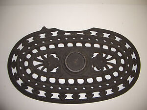 Vintage Cast Iron Pot Belly Stove Top Lid Cover Grill Vent Rustic Decor Npc7