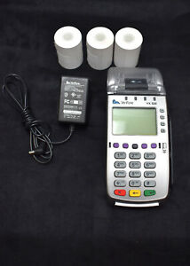 Verifone Vx 520 Credit Card Terminal Chip Reader W power Supply 3 Paper Rolls
