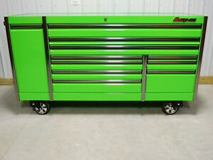 Snap On Extreme Green 84 Epiq Tool Box Toolbox Custom Stainless Steel Top