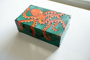 Hand Painted Octopus Cigar Box
