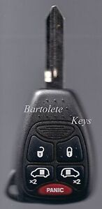 Replacement Entry Remote Key Fits 2004 2005 2006 2007 Dodge Grand Caravan