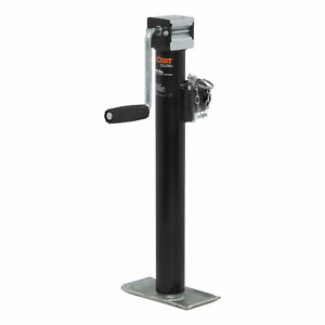 28324 Curt 2 000 Side Wind Pipe Mount Trailer Jack With 15 Travel