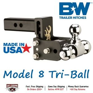 Ts10048bb Browning 5 Drop Tow Stow Adjustable Tri Ball Mount Receiver Hitch