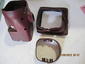 Lincoln Mark Vii 87 88 89 1987 1989 Steering Column Cover 4 Piece Set Red Oem