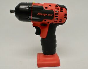 Snap On Ctj8810b 3 8 Red Cordless Impact Wrench 18v Lithium Ion Tool Only