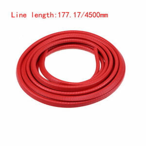 4 5m U Type Red Rubber Trim Weather Seal Strip Car Door Edge Protector Windproof