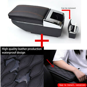 Car Central Armrest Box With Removable Ashtray scratch Resistant Pu Arm Rail Pad