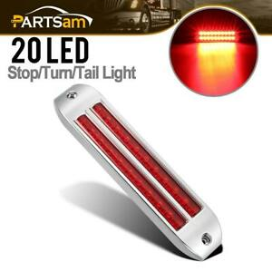 8 1 4 Red Led Light With Two 10 Led 6 1 2 Flush Mount Stop Turn Tail Light Bar