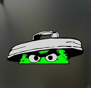 Oscar The Grouch Sticker Funny Jdm Lowered Low Car Truck Window Drift Decal